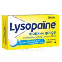 LYSOPAÏNE Comprimés à sucer maux de gorge sans sucre 2T/18 à FLEURANCE