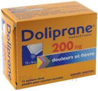 DOLIPRANE 200 mg Poudre pour solution buvable en sachet-dose B/12 à FLEURANCE