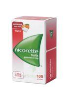 Nicorette 2 Mg Gomme à Mâcher Médicamenteuse Sans Sucre Fruits Plq/105 à FLEURANCE