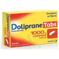 DOLIPRANETABS 1000 mg Comprimés pelliculés Plq/8 à FLEURANCE