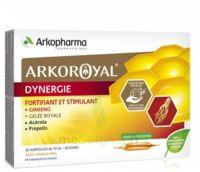 Arkoroyal Dynergie Ginseng Gelée royale Propolis Solution buvable 20 Ampoules/10ml à FLEURANCE