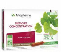Arkofluide Bio Ultraextract Solution buvable mémoire concentration 20 Ampoules/10ml à FLEURANCE