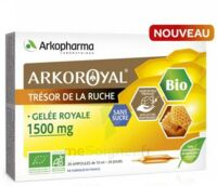 Arkoroyal Gelée royale bio sans sucre 1500mg Solution buvable 20 Ampoules/10ml à FLEURANCE