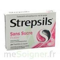 STREPSILS FRAISE SANS SUCRE, pastille édulcorée à l'isomalt, au maltitol et à la saccharine sodique à FLEURANCE