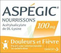 Aspegic Nourrissons 100 Mg, Poudre Pour Solution Buvable En Sachet-dose à FLEURANCE