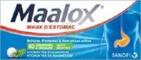 MAALOX HYDROXYDE D'ALUMINIUM/HYDROXYDE DE MAGNESIUM 400 mg/400 mg Cpr à croquer maux d'estomac Plq/40 à FLEURANCE