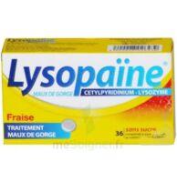 LYSOPAÏNE Comprimés à sucer maux de gorge fraise sans sucre 2T/18 à FLEURANCE