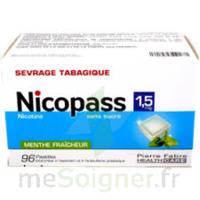 Nicopass 1,5 mg Pastille sans sucre menthe fraîcheur Plq/96 à FLEURANCE