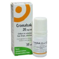 CROMABAK 20 mg/ml, collyre en solution à FLEURANCE