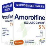 Amorolfine Eg Labo Conseil 5 %, Vernis à Ongles Médicamenteux à FLEURANCE