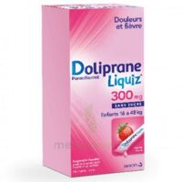 Dolipraneliquiz 300 mg Suspension buvable en sachet sans sucre édulcorée au maltitol liquide et au sorbitol B/12 à FLEURANCE