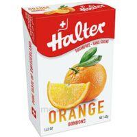 Halter Bonbon sans sucre orange 40g à FLEURANCE